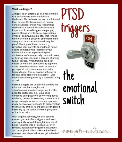 C PTSD triggers explained by Pete Walker, trauma therapist and author