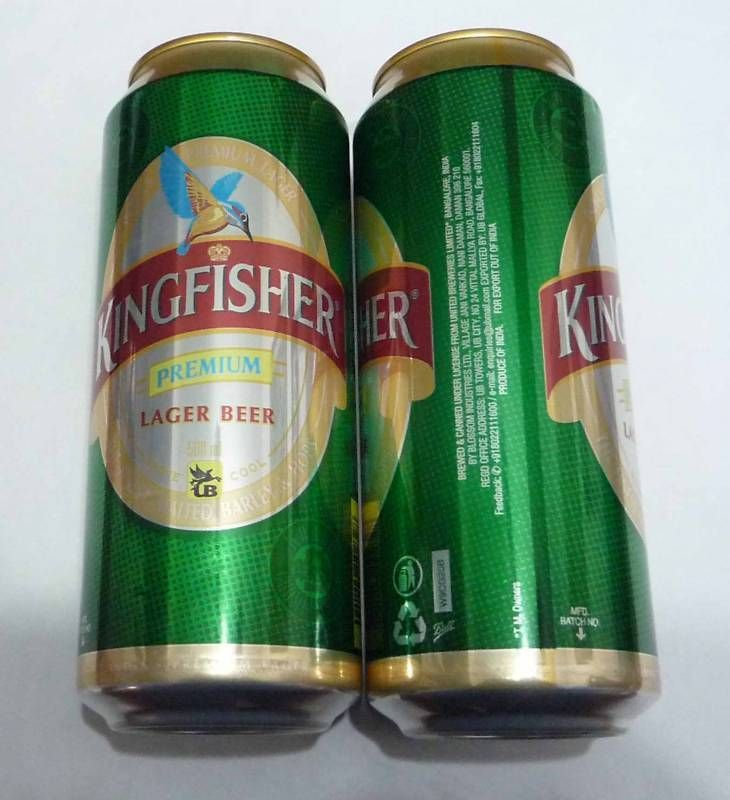 KINGFISHER Beer can INDIA Premium Green Tall 500ml Beer