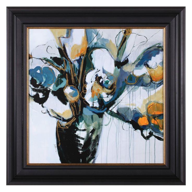 Art Effects Blooms In Shamrock Grey Framed Wall Art - R17883