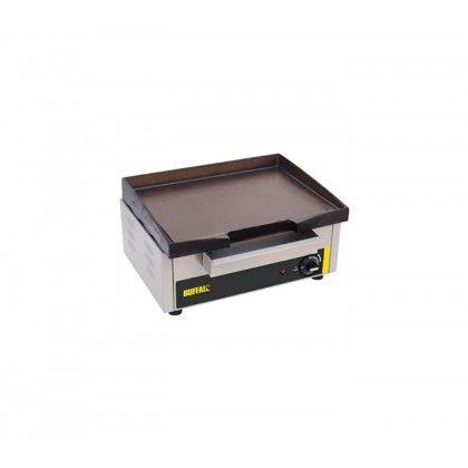 Plancha Eléctrica P108 Buffalo,  con la plancha en hierro fundido y las carcasas exterior de acero inoxidable para hacerlas mas resistentes, de facil limpieza