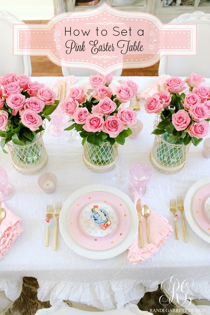 Best 25 Easter Table Ideas On Pinterest Easter Table Settings Image Easter Brunch And Pink