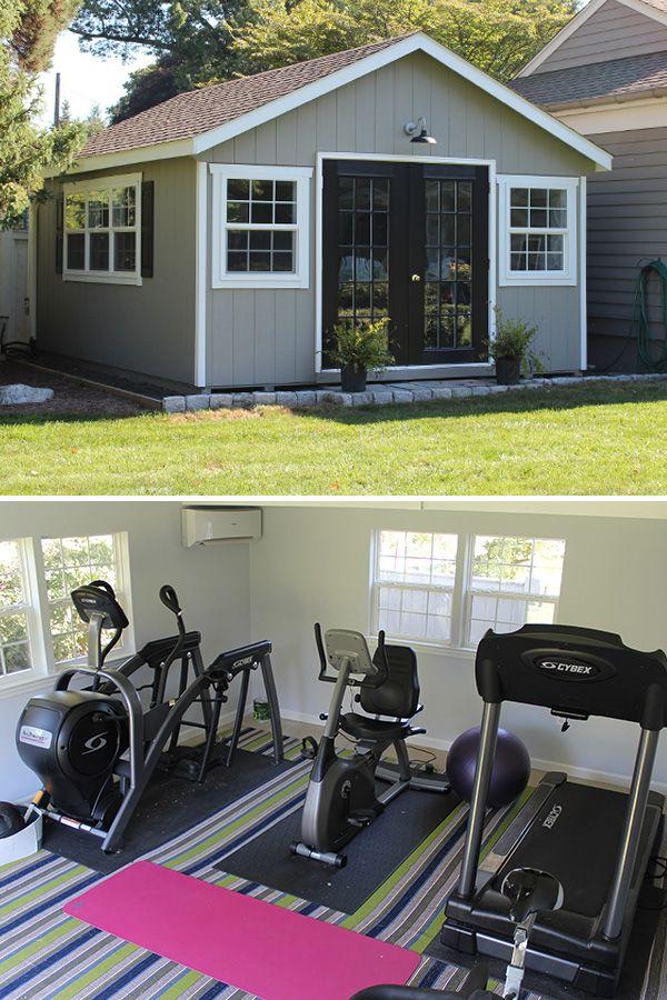 Backyard Workout Shed Gym Room At Home Workout Room Home Home Gym Garage