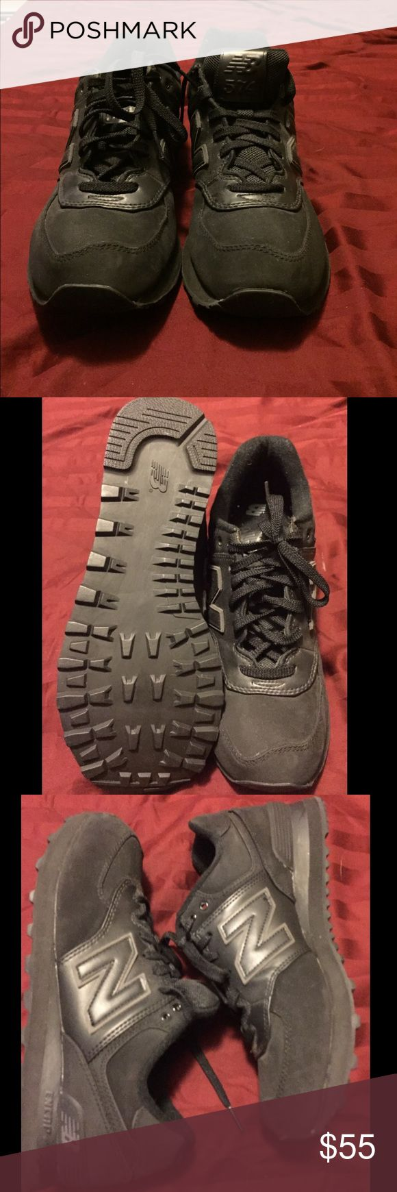 New Balance all black sneakers Like new New Balance sneakers New Balance Shoes Sneakers