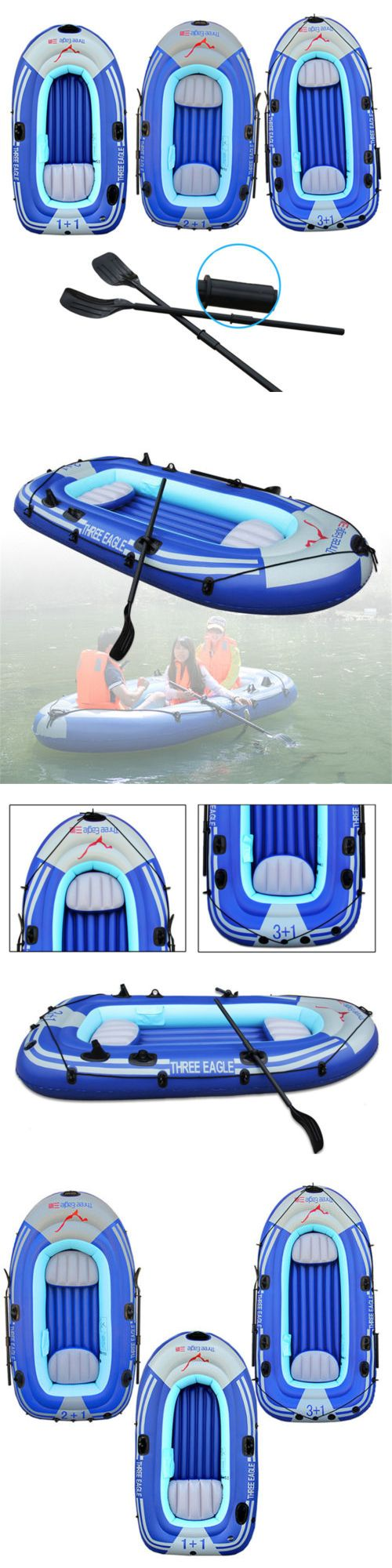 Inflatables 87090: 2-4 Person Kayak Inflatable Boat Dinghy Raft Canoe Fishing Boat + Oars+Pump Usa -> BUY IT NOW ONLY: $67.7 on eBay!