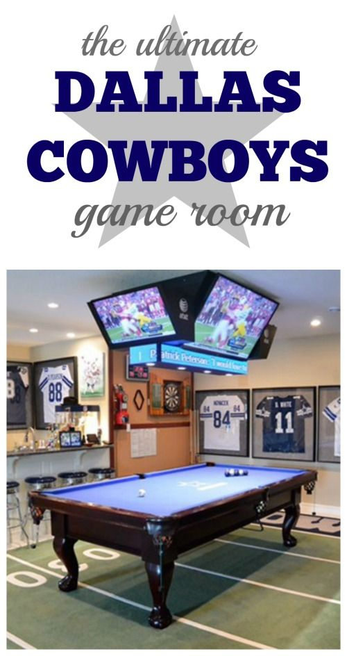 The ultimate game room or man cave for the biggest Dallas Cowboys fan there is.  Essential items to create your own party room or game room.