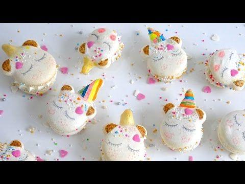 Les Macarons licorne [TUTO] (English subtitles available) Unicorn Macarons - YouTube