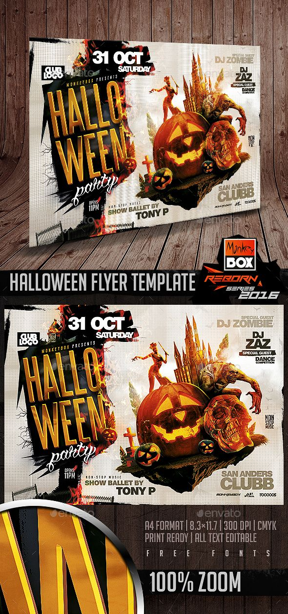 Best Halloween Flyer Templates Images On   Flyer