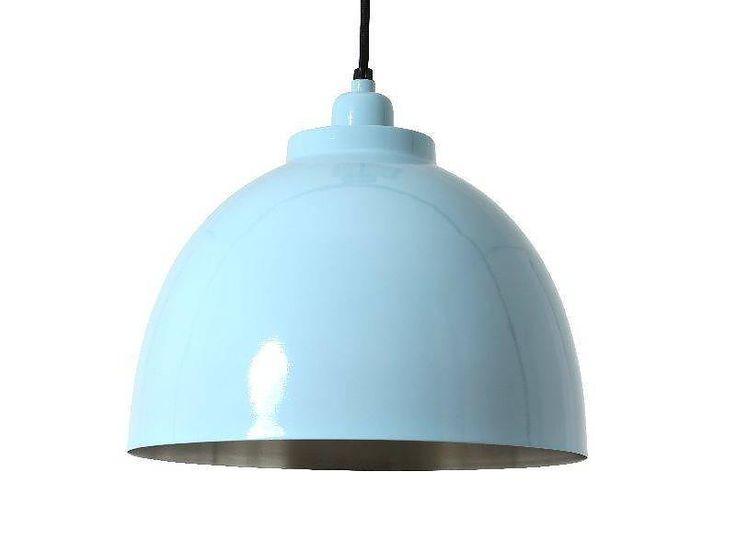 lichtblauw glans mat mat nikkel forward hanglamp kylie lichtblauw ...