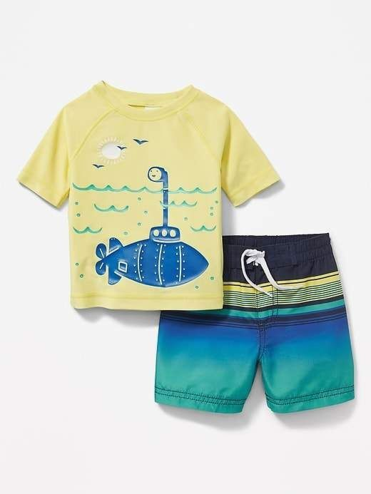 d86703c9890df Baby boy swim wear. Find good-quality move trunks and rashguards. baby swim  trunks infants #babyswimtrunks #babyswimsuit | baby swim trunks | Baby  swimming…