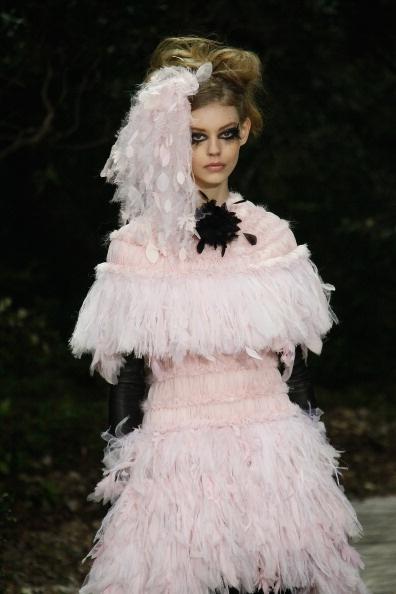 Chanel abito con piume
