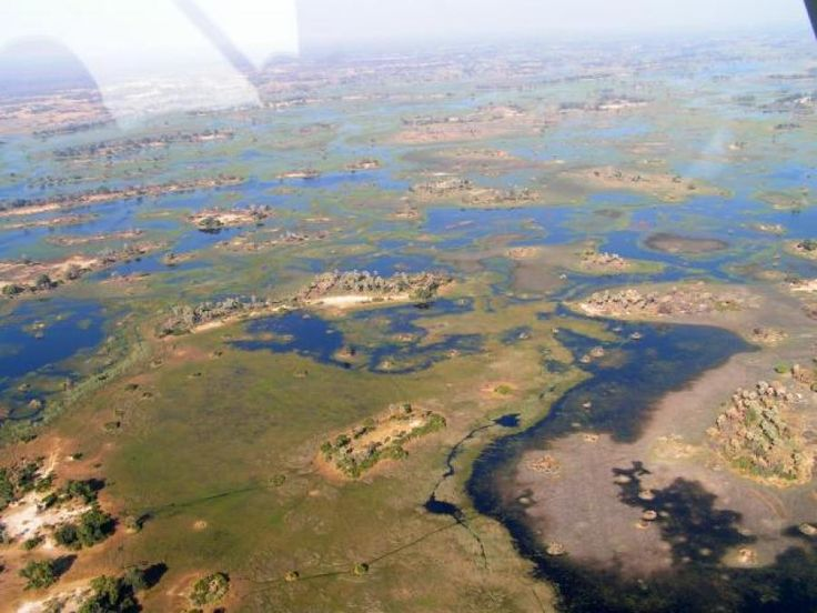 The Okavango Delta Photographed From The Air - North Botswana | Traveldudes.org