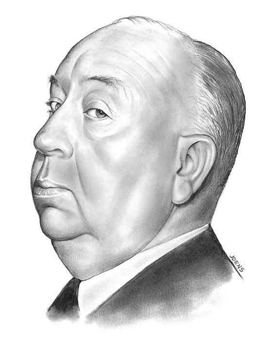 Alfred Hitchcock by Artist Greg Joens