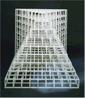 Cube Structure Based on Nine Modules (Wall/Floor Piece #2) 1976-77. Me lembra o Professor Eladio, da Belas Artes!