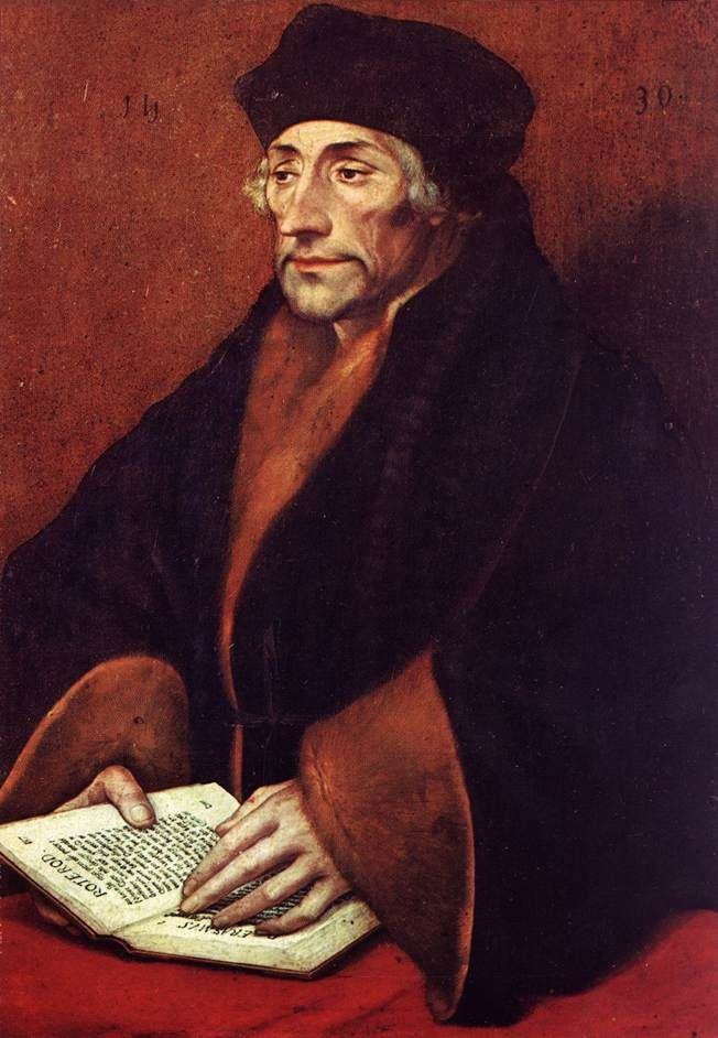 Portrait of Desiderius Erasmus  - Hans Holbein the Younger -