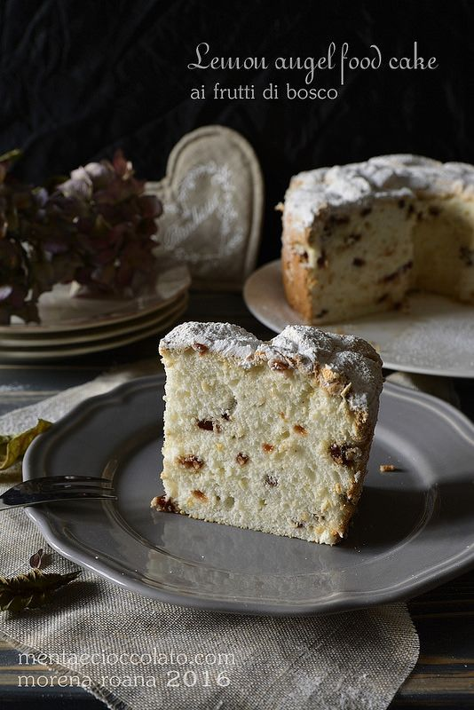 Menta e Cioccolato: Lemon Angel food cake ai frutti di bosco all'Italiana #lemon #angel #cake #chiffon