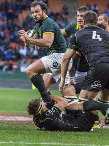 Springbok Rugby teen Wereld XV op Nuweland 2015