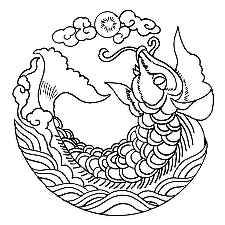 Coloring Pages Chinese Embroidery