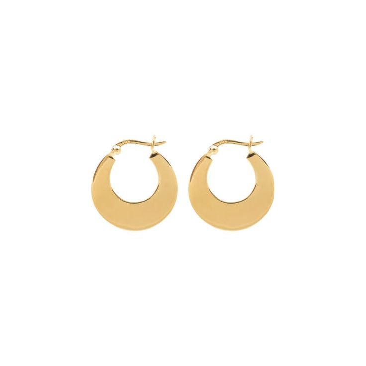 Disc hoops gold