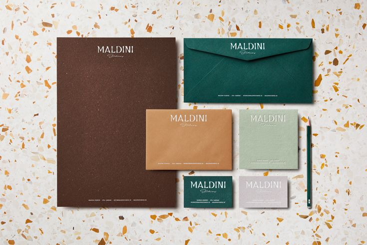 Logotype and letterpress stationery by Jens Nilsson for interior design and carpentry business Maldini Studios