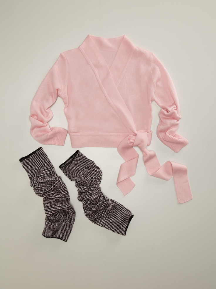 Wrap Sweater & Leg Warmer - cute for a little girl that is in dance/ballet paired with a leotard & ballet shoes!