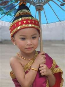 laos girl in Traditional dress   Photo