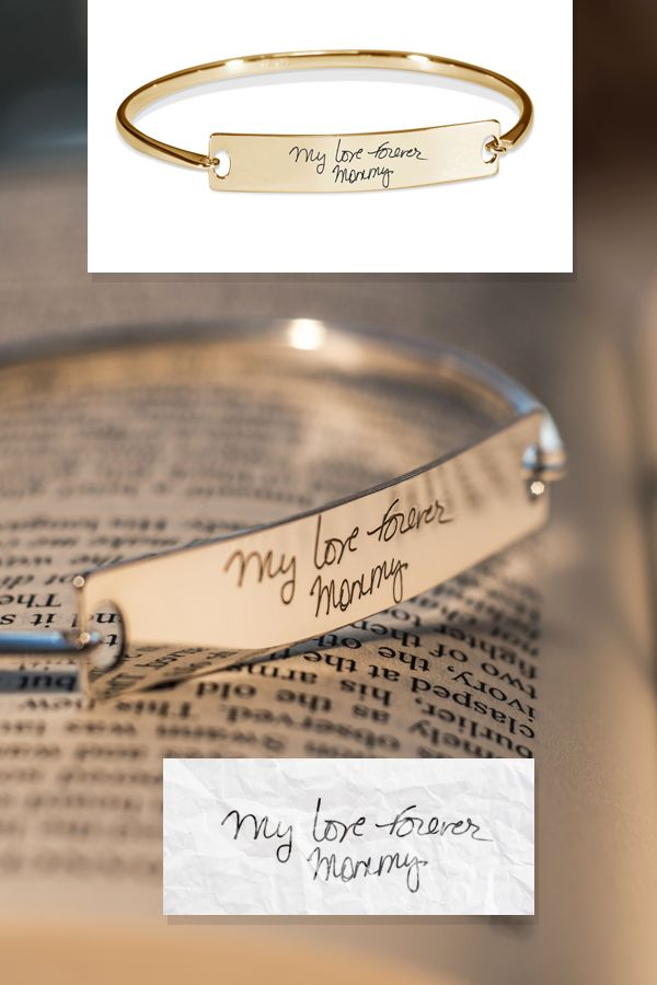 Personalisierte Handschrift Armreif