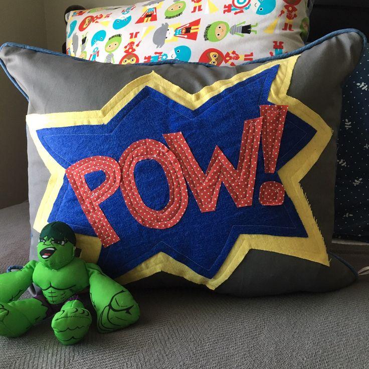 Child Pillow 16 x 20 inch Pillow Cover Superhero Pillow Cover Kids Room Decor Gray Pillow Cover Red Blue Pillow Cover Lumbar Pillow Cover by GetCreativeSewing on Etsy https://www.etsy.com/listing/534851283/child-pillow-16-x-20-inch-pillow-cover