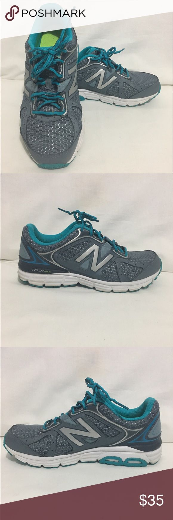 New Balance Women's Tennis Shoes Size 9.5 New Balance Tennis Shoes Gray, Silver and Blue Green, Barely Worn, show small signs of wear on soles, see photos for details New Balance Shoes Sneakers