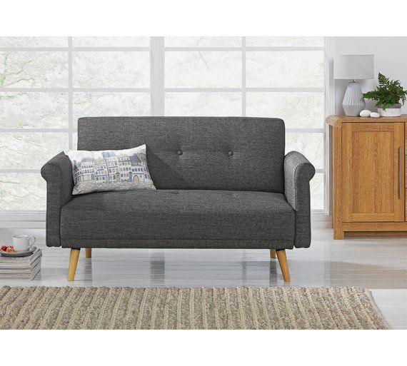 Buy Argos Home Evie 2 Seater Fabric Sofa In A Box Charcoal