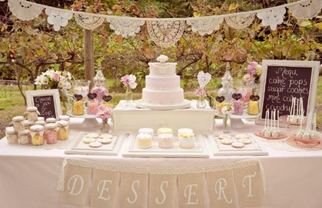 Vintage lolly dessert buffet table