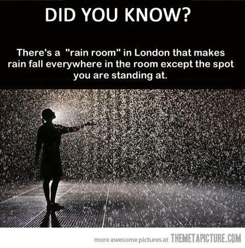 Rain room in London #beforeidie #bucketlist