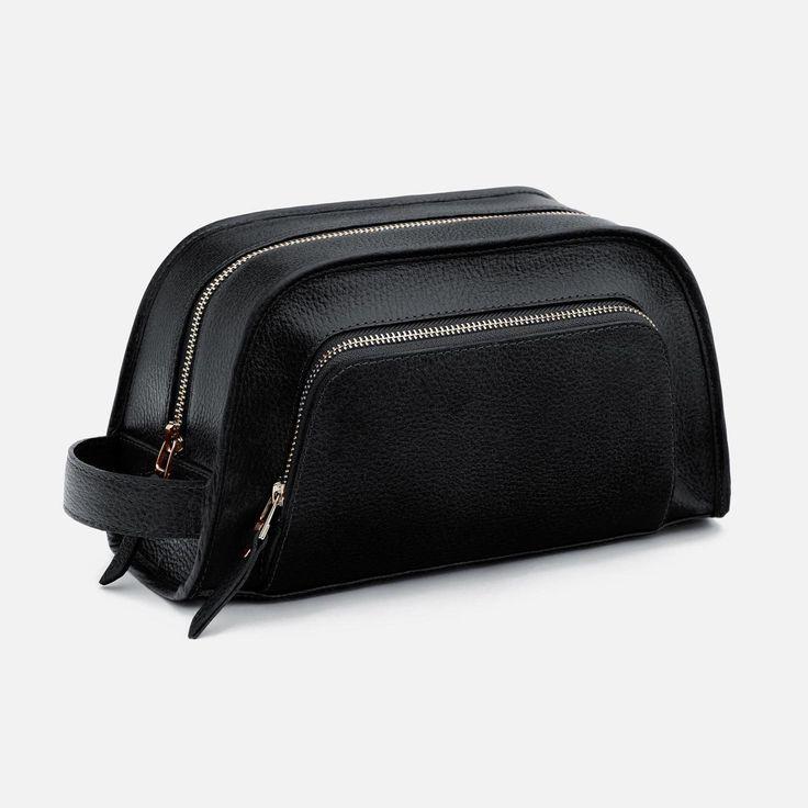 Nieto Dopp Kit - Full grain Leather - Black