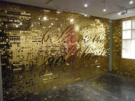 Sequin Wall Fabulous. Want this in black sequins with black letters...or neon lights. YES!