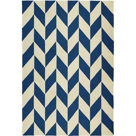 Couristan Covington Herringbone Rug, Navy/Ivory - Walmart.com