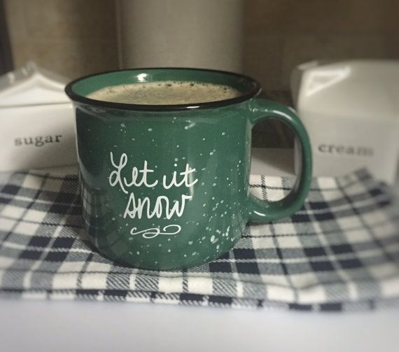 Let it Snow Campfire Mug by carinapaperco on Etsy
