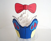 Snow White and the 7 Dwarfs Cupcake Wrappers and Toppers