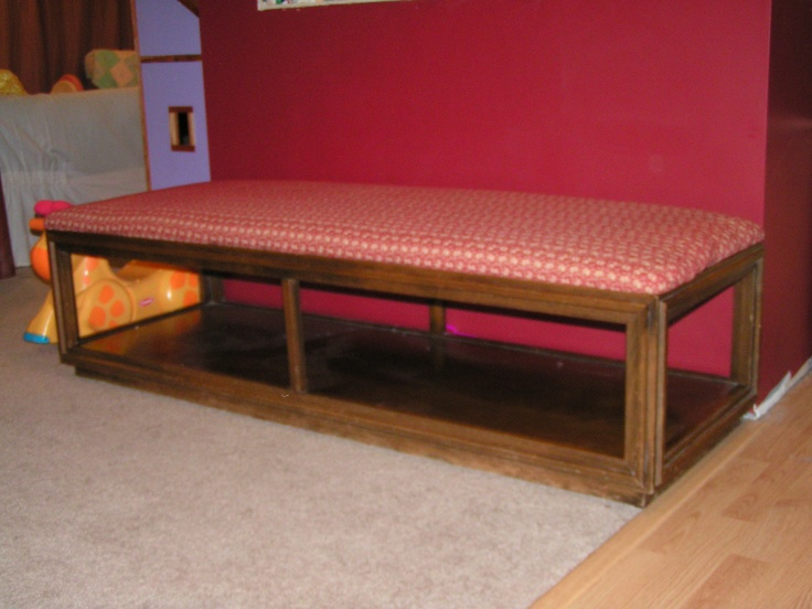 Old Coffee Table Repurposed As A Bench Diy Pinterest