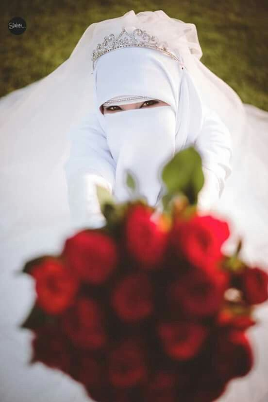 Lovely happy Niqabi bride