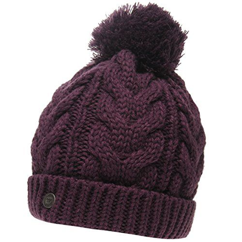 SoulCal Womens Vesna Hat Bobble Knitted Berry Ladies SoulCal  https   www.amazon 513453440254
