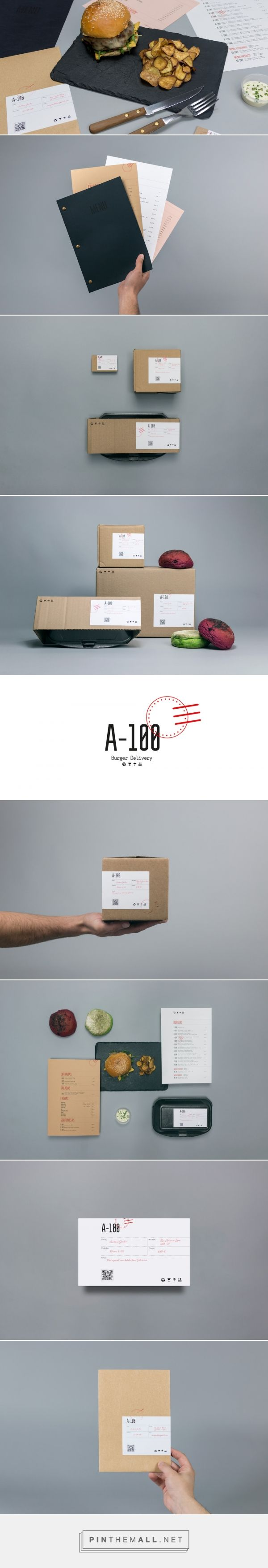A-100 Burger Delivery — The Dieline - Branding & Packaging - created via https://pinthemall.net