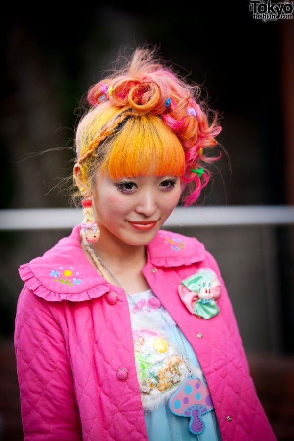 tokyo street fashion, colorful, style, street style, sokak modası, rengarenk, harajuku, kawaii, punk lolita
