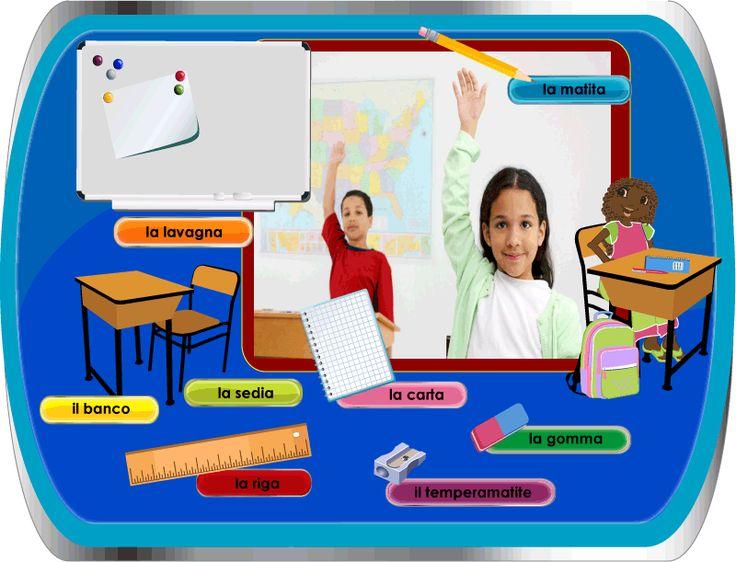 First Words Italian / Italiano per Bambini - School