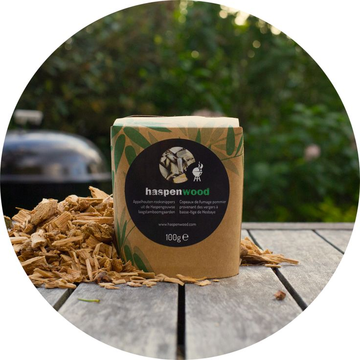 100g applewood smoking chips in a handy container