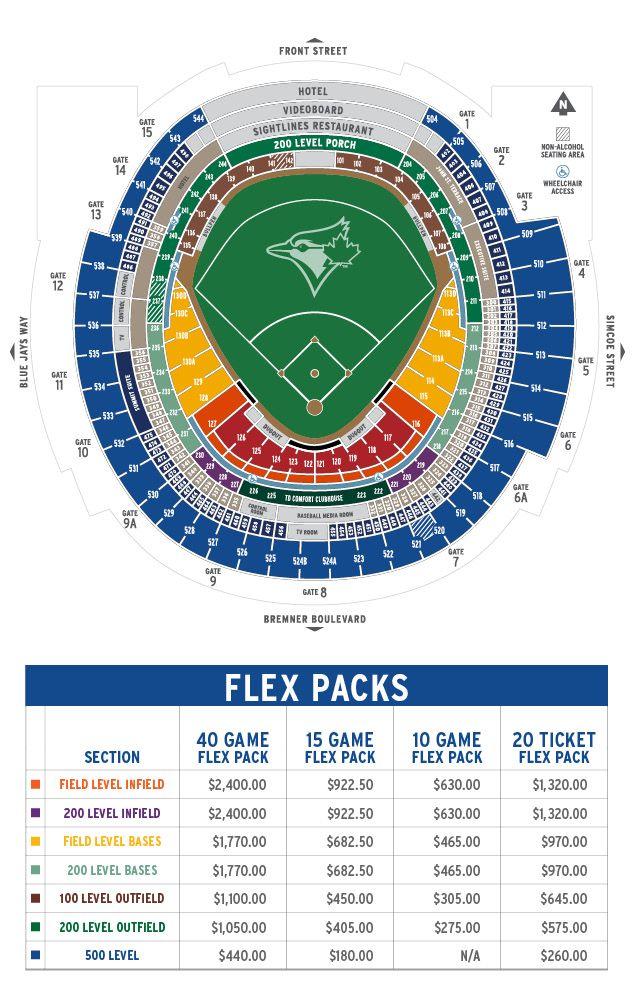Seating Map Toronto Blue Jays Pinterest Scores - Blue jays seating chart