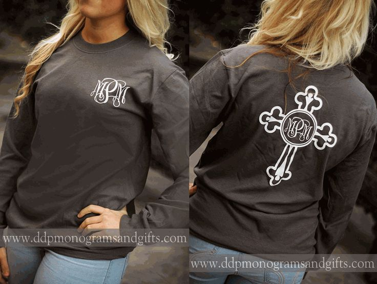 PERSONALIZED FULL BACK ORNATE CROSS LONG SLEEVE T-SHIRT