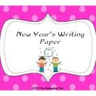 Enjoy this FREEBIE with your students.  New Year's themed writing paper.   You can use this paper for a variety of writing topics: * Describe you...