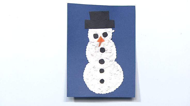 Martan lumiukko I askartelu | kädentaidot | paperi | lasten | lapset | helppo | askarrellaan | kids | children | easy | crafts | Pikku Kakkonen