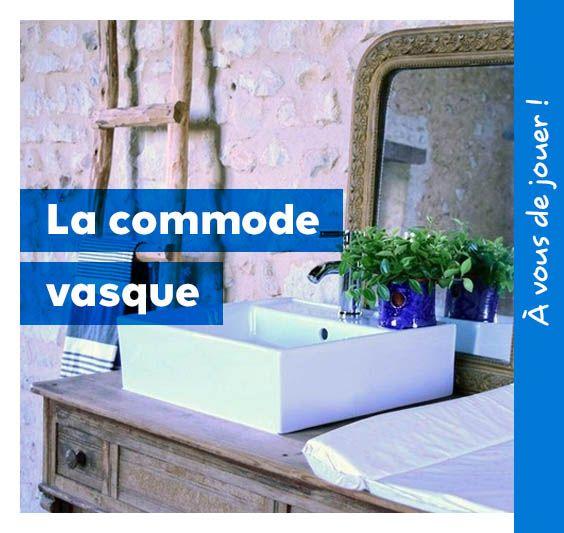 1000 id es sur le th me commode de salle de bains sur for Transformer commode en meuble salle de bains