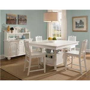 Mirren Harbor 5 Piece Counter Height Table With Stools Set