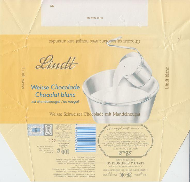 Weisse Schokolade mit Mandelnougat 1990